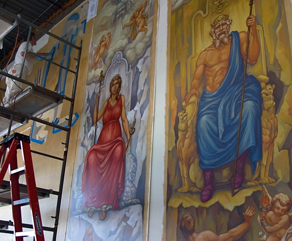 Fine Art Wall Mural Restoration