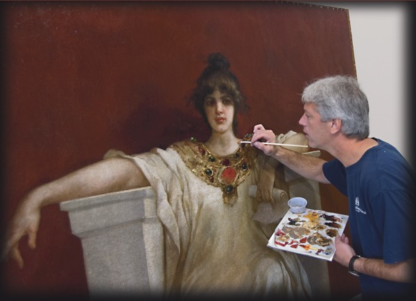 restoration of old paintings