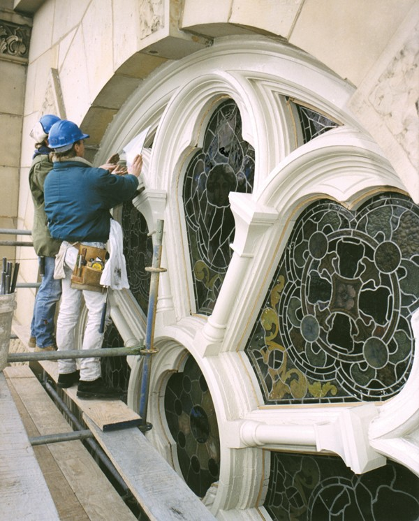 Resealing stained glass