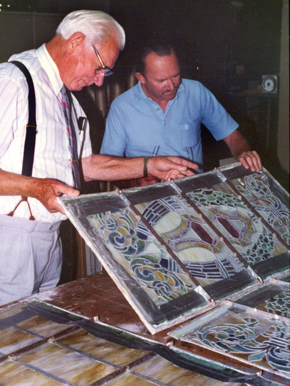 Stained glass window restoration