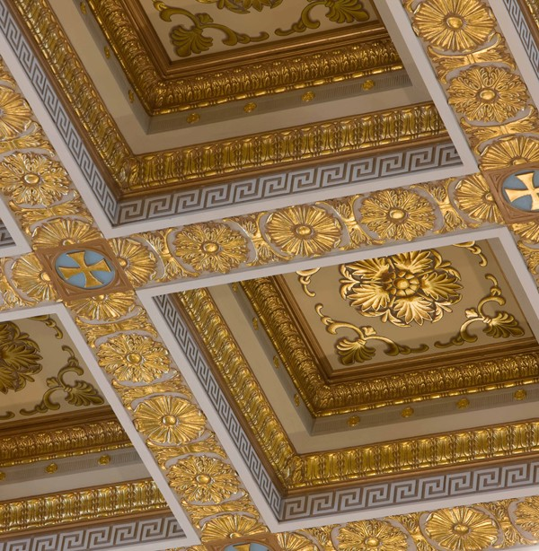 23 karat gold leaf church restoration