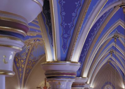 Stencils grace the arches in the cathedral - Photo: Jon Denker