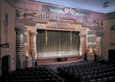 Wide view of the decorative painting for the Egyptian Theatre, Boise, ID