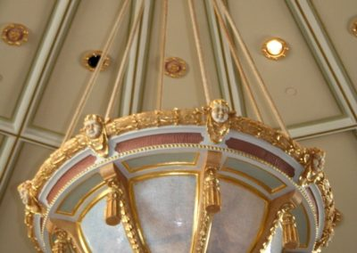 A closer view of the fixture, closer than you would see in person - Photo courtesy of Indiana Landmarks
