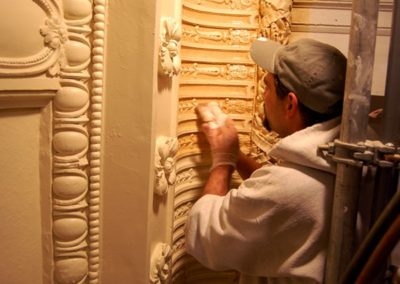 An artisan glazing at the Mineral Point Opera House, Mineral Point, WI - Photo: Philip Mrozinski
