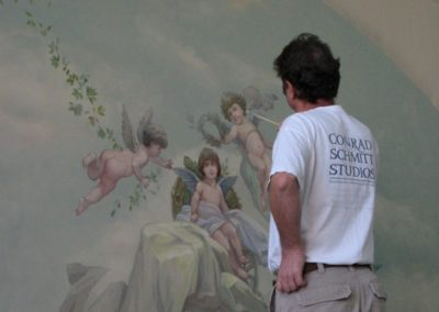 New Mural - New mural for the Bass Mansion