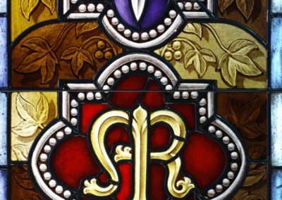 New stained glass created in the traditional style for Notre Dame Law School Chapel