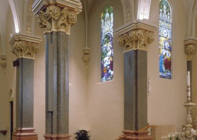 Gilded and glazed columns for the Church of the Resurrection, Wausau, WI
