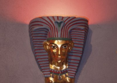 Restored Egyptian heads