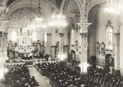 Historic photo of St. Agnes Church, St. Paul, MN