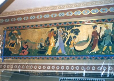 A mural being conserved at the Mosque Auditorium, Richmond, Virginia
