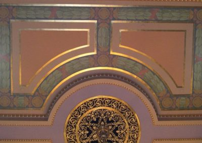 Detail of the Iowa State Capitol, Des Moines, IA