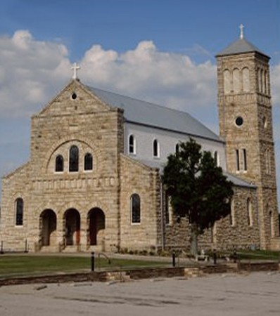 Exterior view of St. Mary Catholic Church, Altus, AR