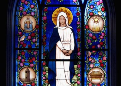 Our Lady of Sorrows - New stained glass window for the University of Notre Dame, Stinson-Remick Hall