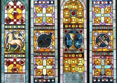 Four conserved windows for St. Barnabas Episcopal Church