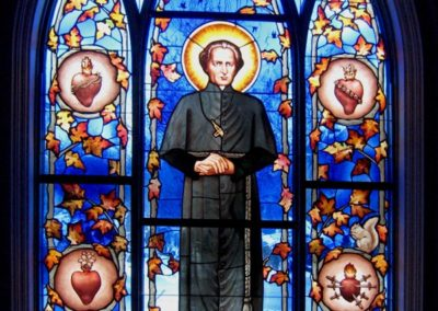 Father Moreau - New stained glass window for the University of Notre Dame, Stinson-Remick Hall