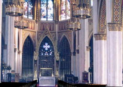 Repaired scagliola columns at the Cathedral of St. Helena, Helena, Montana