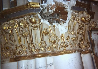 Scagliola damage at the Cathedral of St. Helena, Helena, Montana