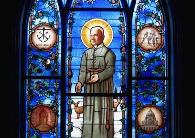 Brother Andre - New stained glass window for the University of Notre Dame, Stinson-Remick Hall