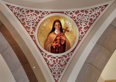New pendentive mural for the recently built St. John Neumann Catholic Church, Knoxville, TN - Photo: LOF Productions