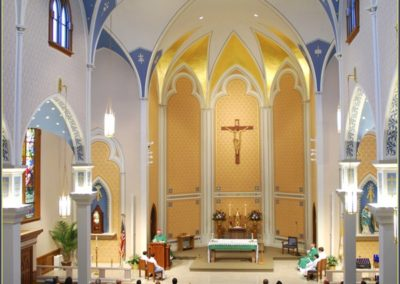 Sanctuary at Holy Family Catholic Church, Photo: Jim Cawthorne