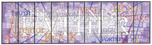 Design of Dale Olsen from which the CSS team of artisans created the stained glass ...