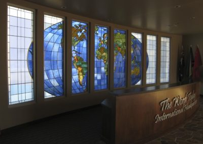 "New stained glass for ""The Word Today"" International Headquarters"