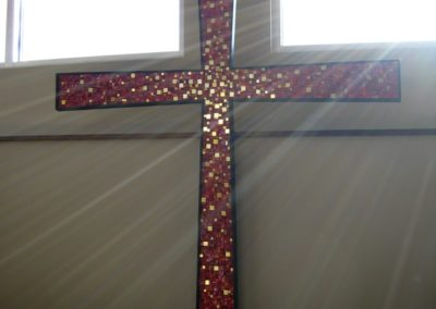 Mosaic cross for Our Shepherd Lutheran Church