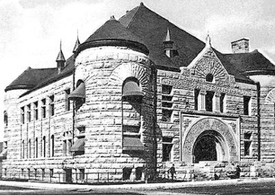 Historic 1890 photo of the exterior