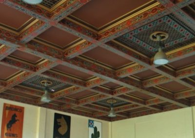Decorative painting on the ceiling of the Schofield Barracks, Quad F Theatre