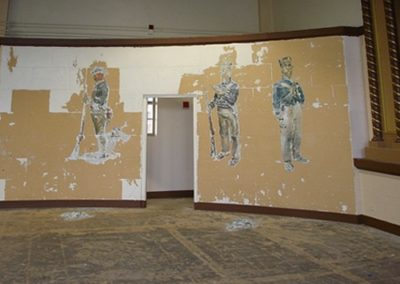 Unknown murals were revealed under layers of paint during the historic paint investigation