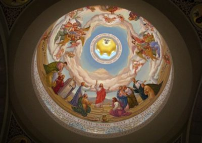 New dome mural for St. John Neumann