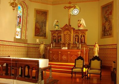 Altar at St. Mary Catholic Church - Photo: Br. Stephen Treat, O.Cist.