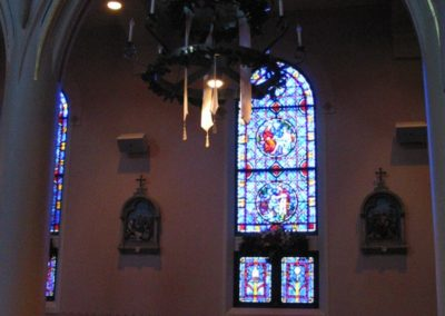 Restored interior of Cathedral of St. Francis de Sales, Houma, LA