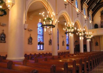 Side view of Cathedral of St. Francis de Sales, Houma, LA