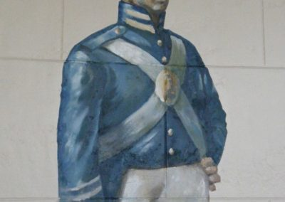 A mural which was revealed during the historic paint investigation