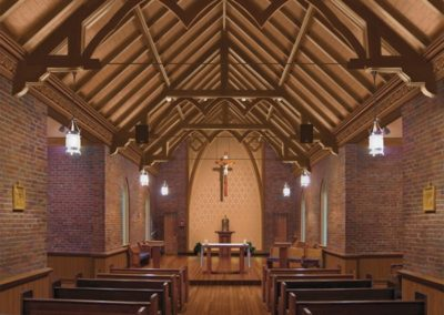 Rendering of Sacred Heart Chapel, Manresa House of Retreats, Convent, Louisiana