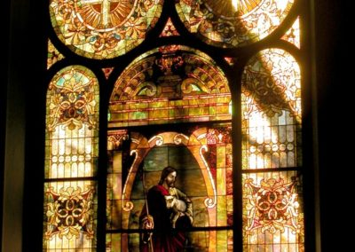 Stained glass restoration for United Presbyterian Church, Canon City, CO