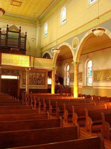 Interior at St. Mary Catholic Church - Photo: Br. Stephen Treat, O.Cist.