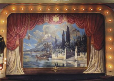 Restored fire curtain for the Sheridan Opera House