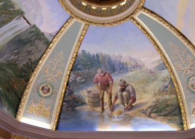Restored Rotunda Mural in the Lawrence County Courthouse, Deadwood, SD