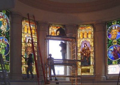 Installation of the conserved windows