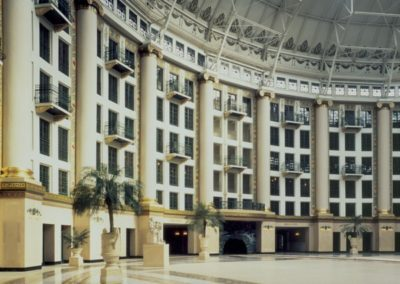 The restored atrium at the West Baden Springs Hotel