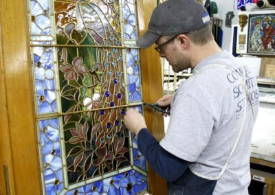 Final touches show the artisans pride of craftsmanship