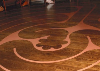 A meditation labyrinth was created for the chapel floor
