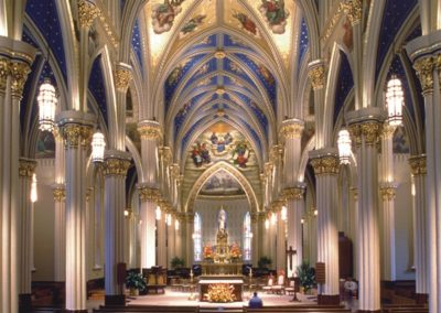 Decorative Painting Restoration, Basilica of the Sacred Heart, Notre Dame - Photo: Don Dubroff