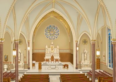 An Artist's rendering shows the new decorative scheme