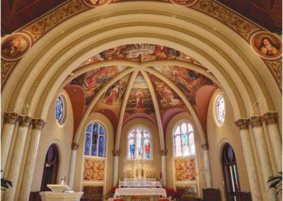 The restored santuary