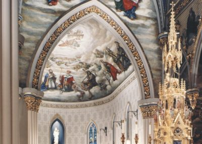 Holy Trinity mural in the Basilica of the Sacred Heart, Notre Dame