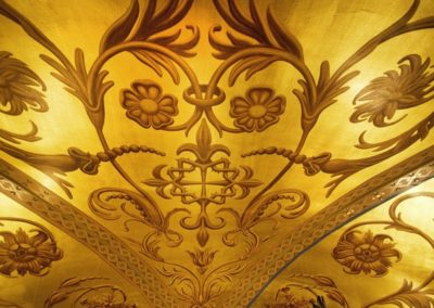 Completed ceiling stencil. Photo: Eyd Kazery